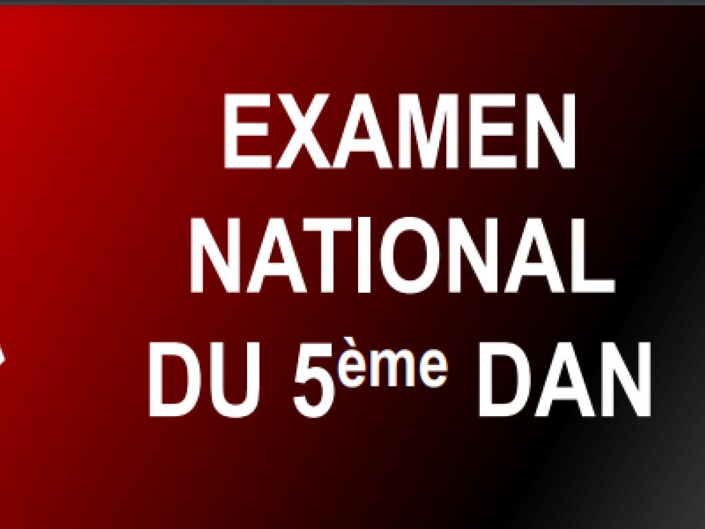Image de l'actu 'Résultats Examen National 5ème DAN'