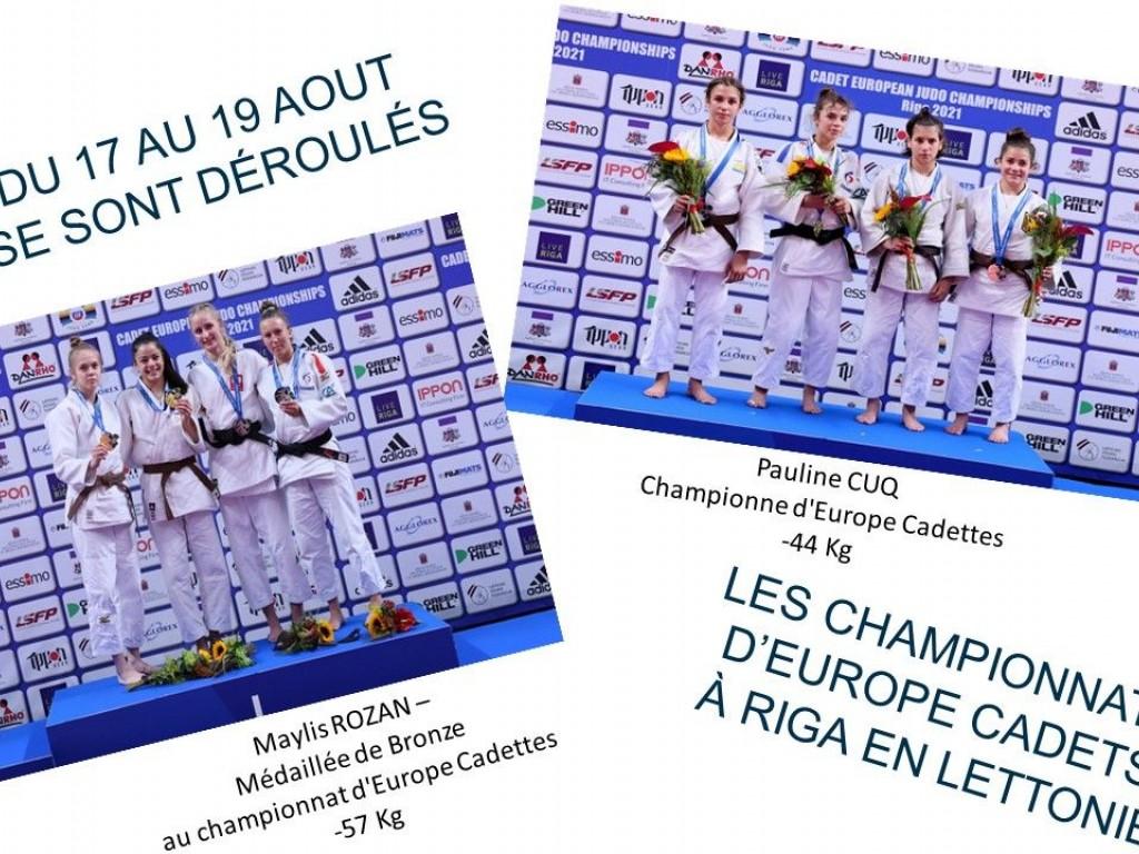 Image de l'actu 'Bravo aux cadettes, Pauline CUQ Championne d'Europe et Maylis ROZAN Médaillée de Bronze au championnat d'Europe à RIGA en LETTONIE'