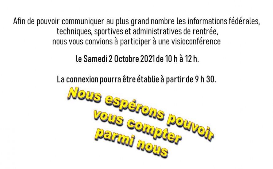 INFORMATIONS FÉDÉRALES 02 OCTOBRE 2021